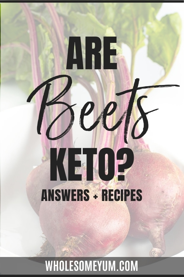 Are beets keto friendly? Get the answers here, complete with carbs in beets, keto beets recipes, substitutions, and more.