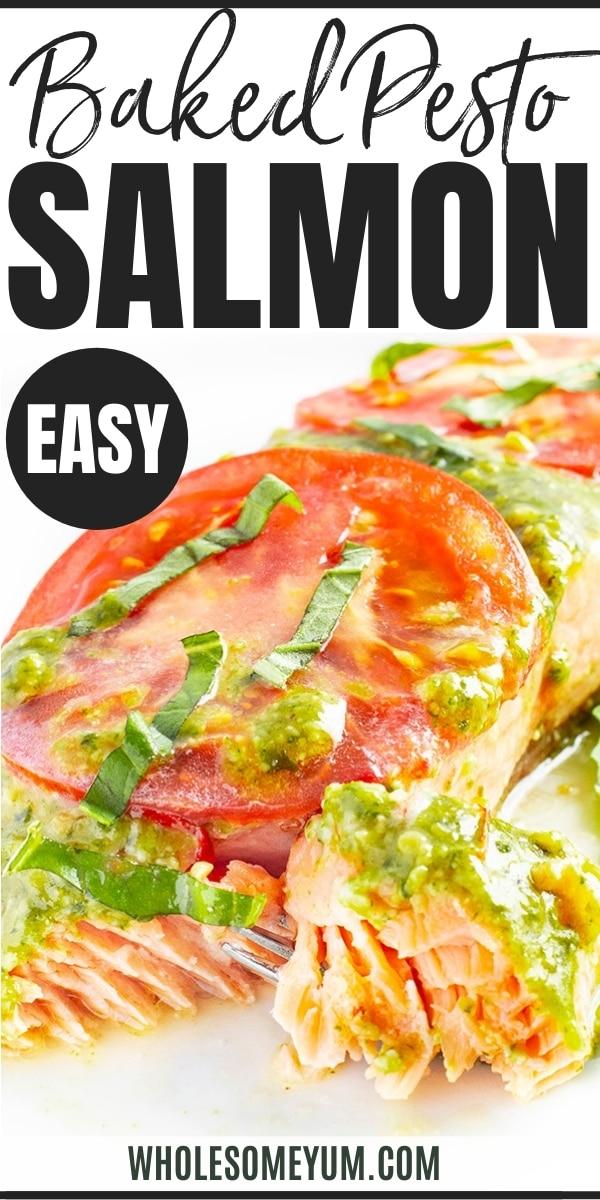 Baked pesto salmon recipe - pinterest