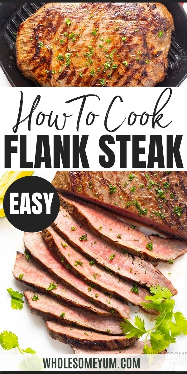 How to cook flank steak in the oven - pinterest