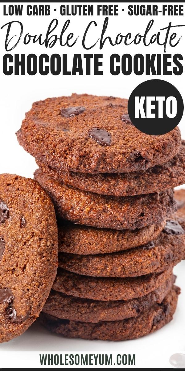 Keto chocolate cookies - pinterest
