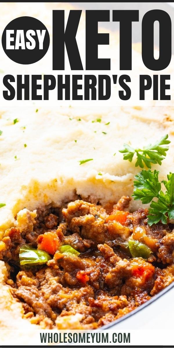 Keto cauliflower shepherd's pie recipe pin