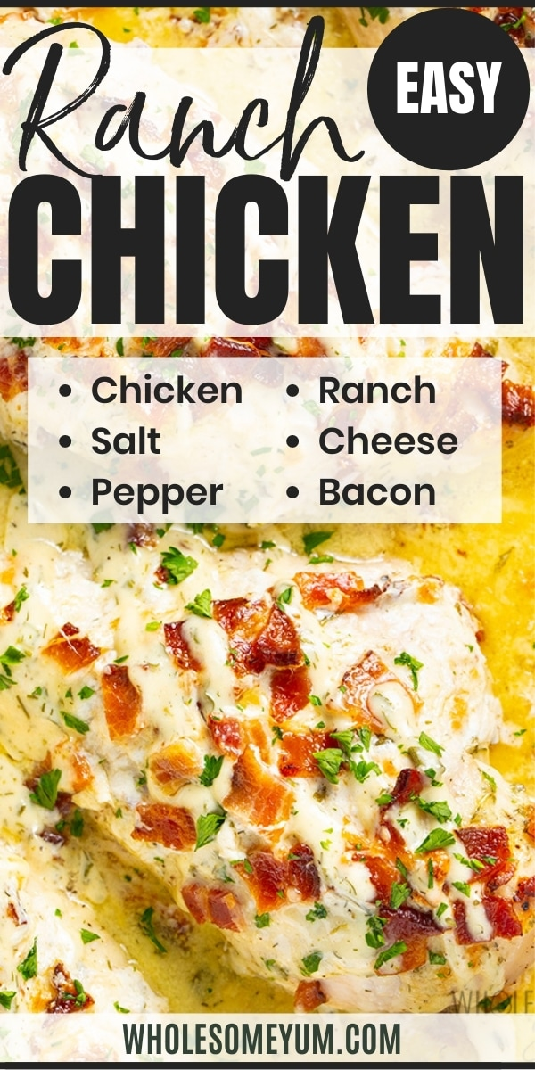 Cheesy bacon ranch chicken recipe pin