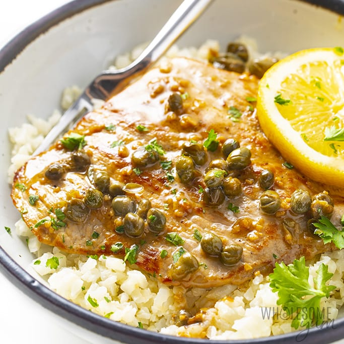 Healthy Veal Scallopini Piccata Recipe Wholesome Yum