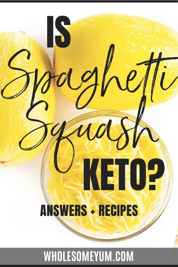 Is spaghetti squash keto? Get the answers here, including carbs in spaghetti squash and recipes to help you enjoy spaghetti squash on keto.