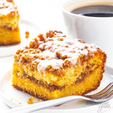 Keto coffee cake recipe with almond flour