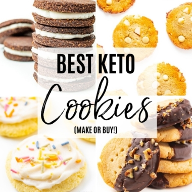 How do you make (or where do you buy) the best keto cookies? Learn here, including keto cookie recipes you can make at home.