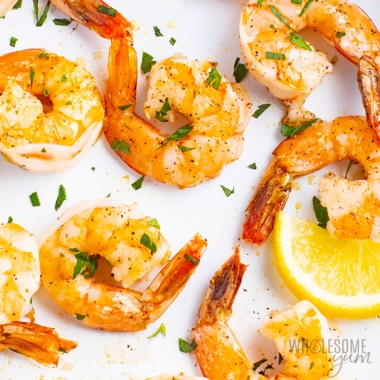 Keto friendly shrimp - closeup