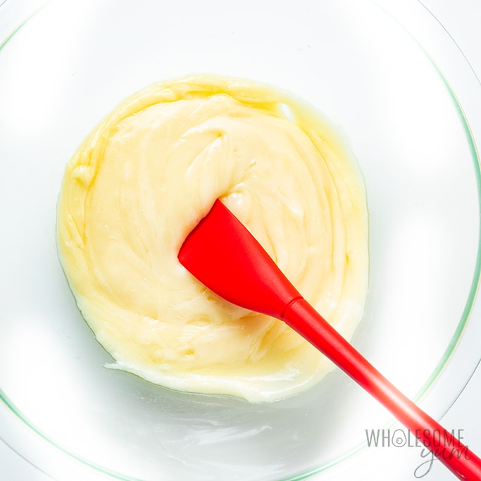Melted cheeses for keto wonton dough