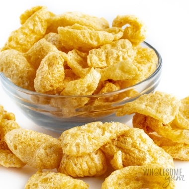 Are pork rinds keto? Learn here, including pork rinds carbs and recipes.