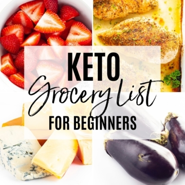 Keto friendly grocery list for beginners - cover