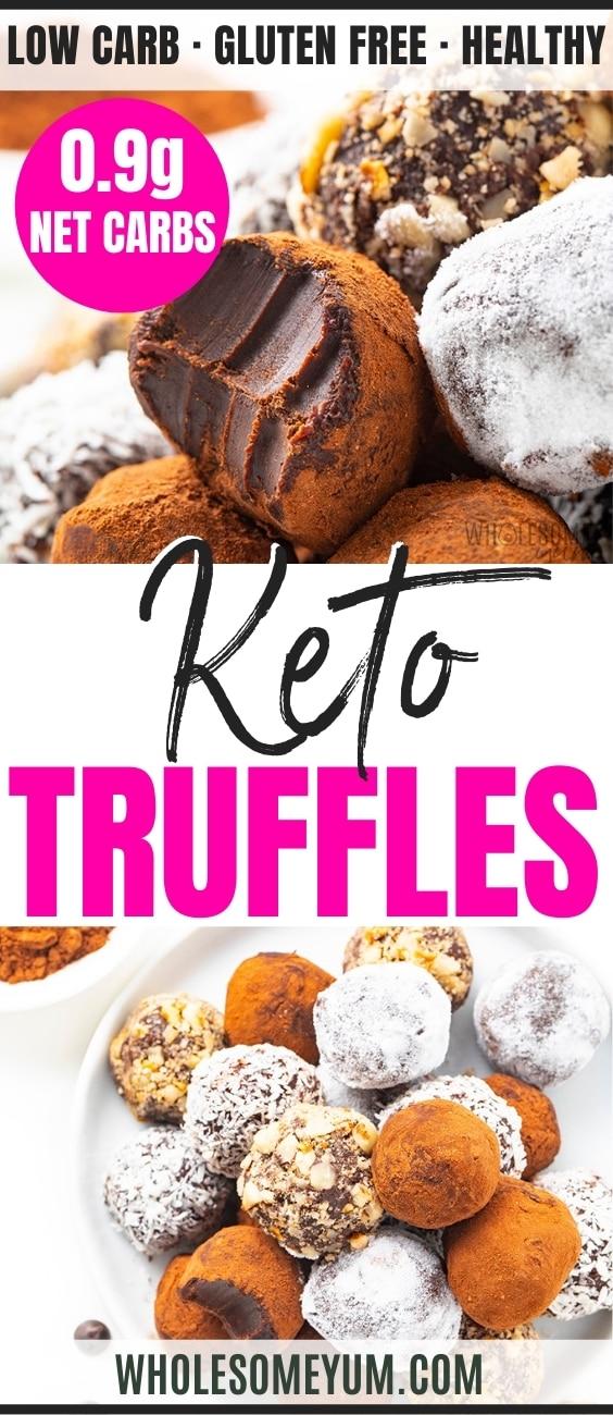 Keto chocolate truffle recipe pin
