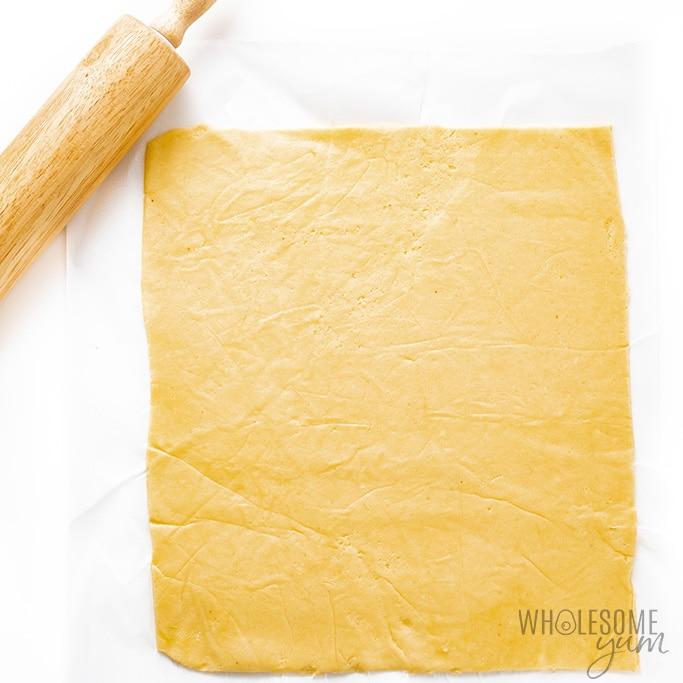Dough for almond flour wonton wrappers