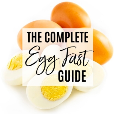 The complete egg fast guide cover graphic