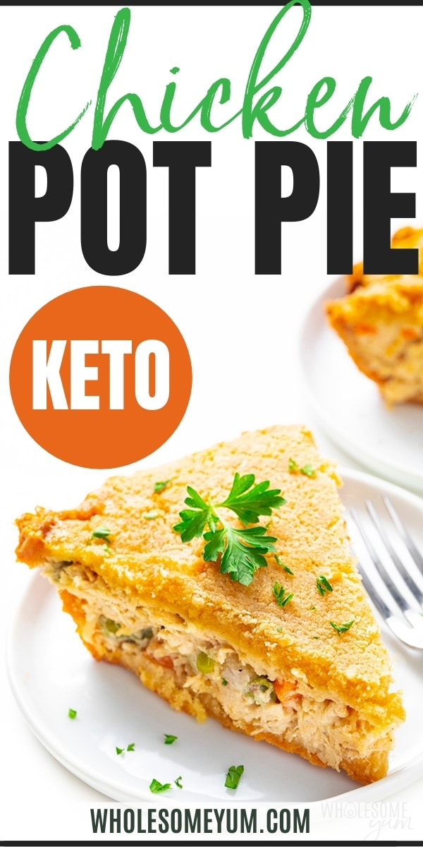 Keto chicken pot pie recipe pin