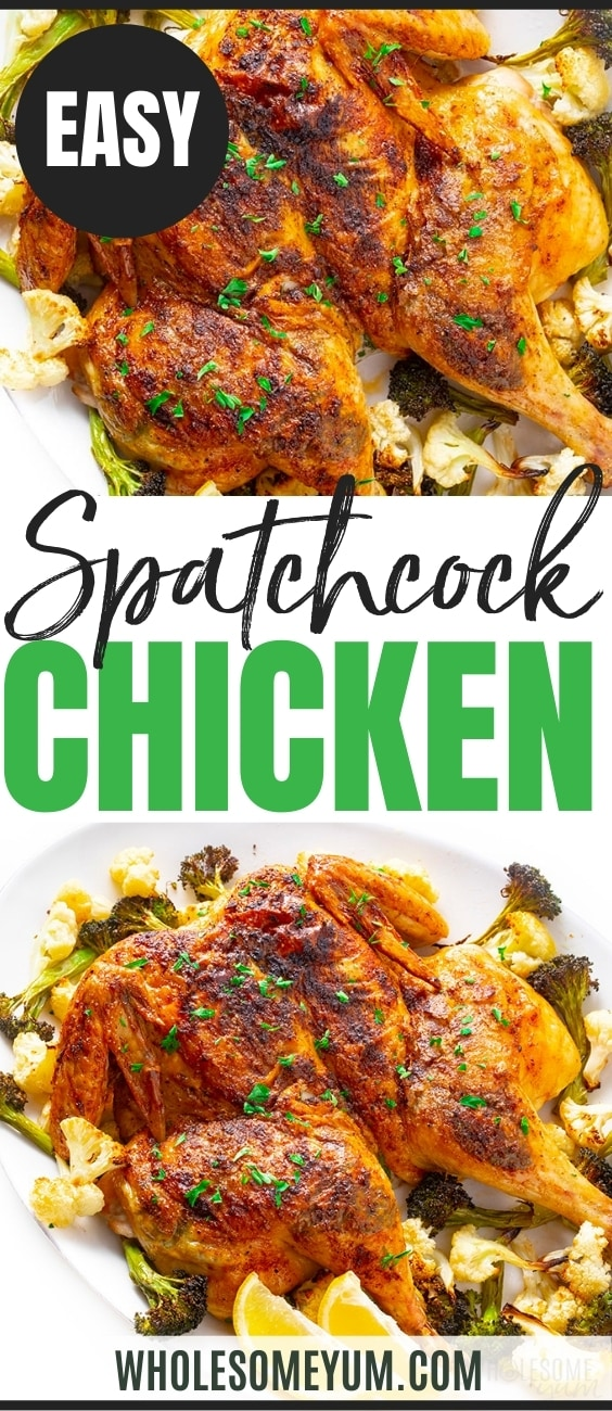 how to spatchcock a chicken: recipe pin