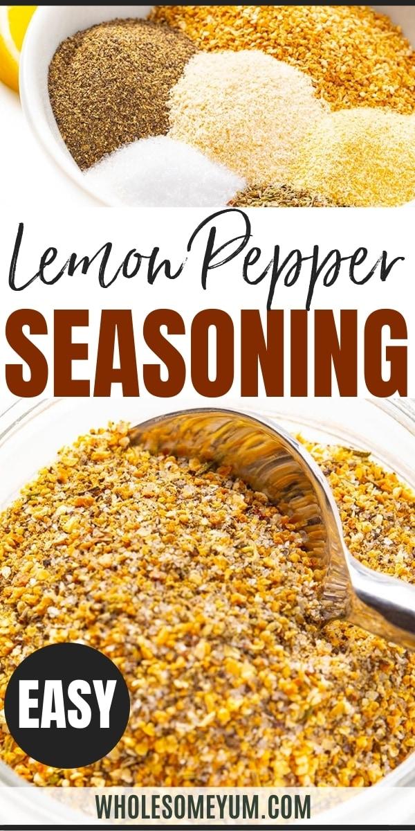 Lemon pepper seasoning recipe pin