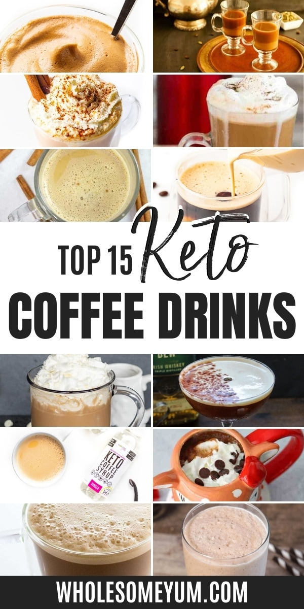 What are the best keto coffee drinks to make? Get lots of keto coffee ideas in this guide, including sugar-free add-ins!