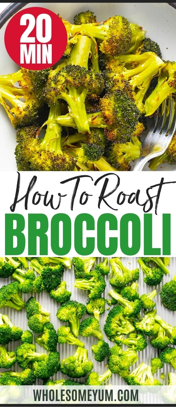How to roast broccoli in the oven - recipe pin