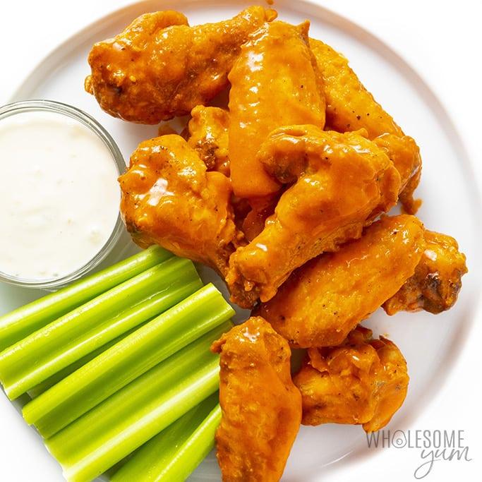 Keto Baked Buffalo Chicken Wings Recipe Wholesome Yum