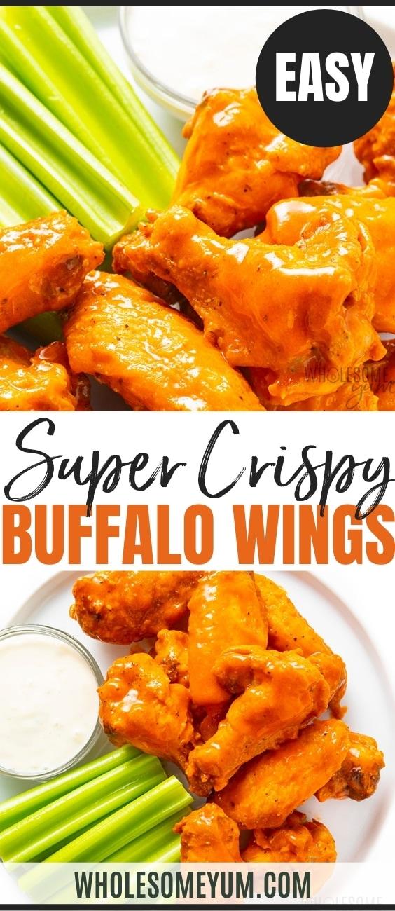 Super crispy buffalo wings recipe pin