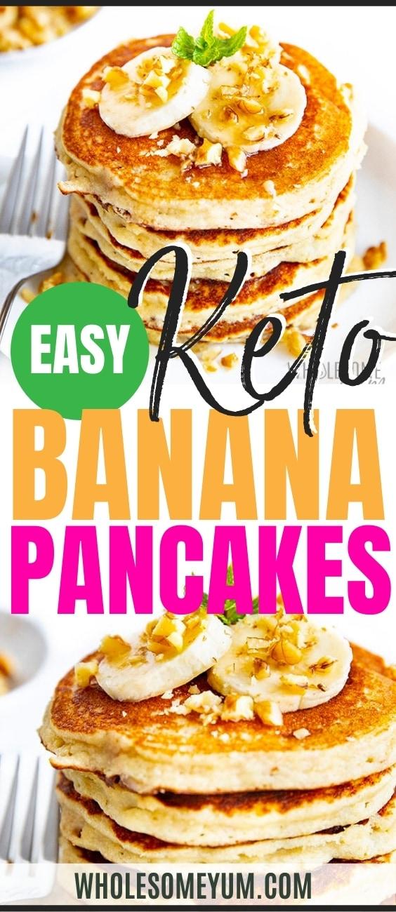 Banana pancake recipe pin