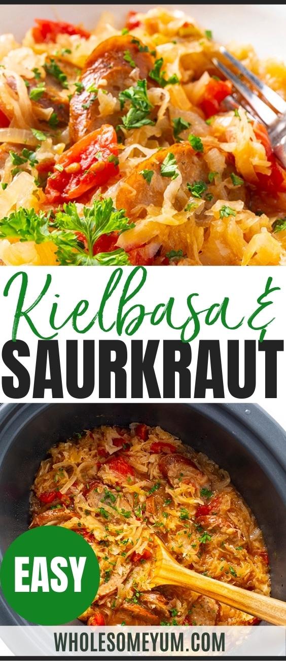 Kielbasa and sauerkraut recipe pin