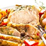 Crock pot pork loin roast recipe close up