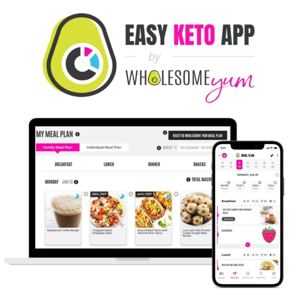 Easy Keto App on devices