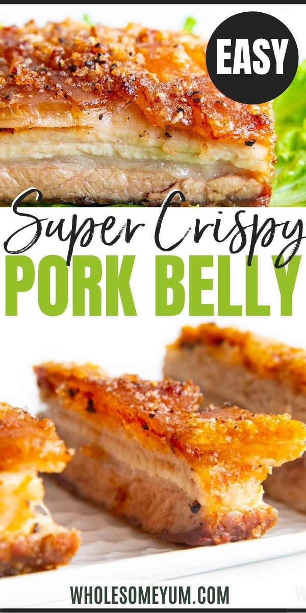 How to cook pork belly - recipe pin