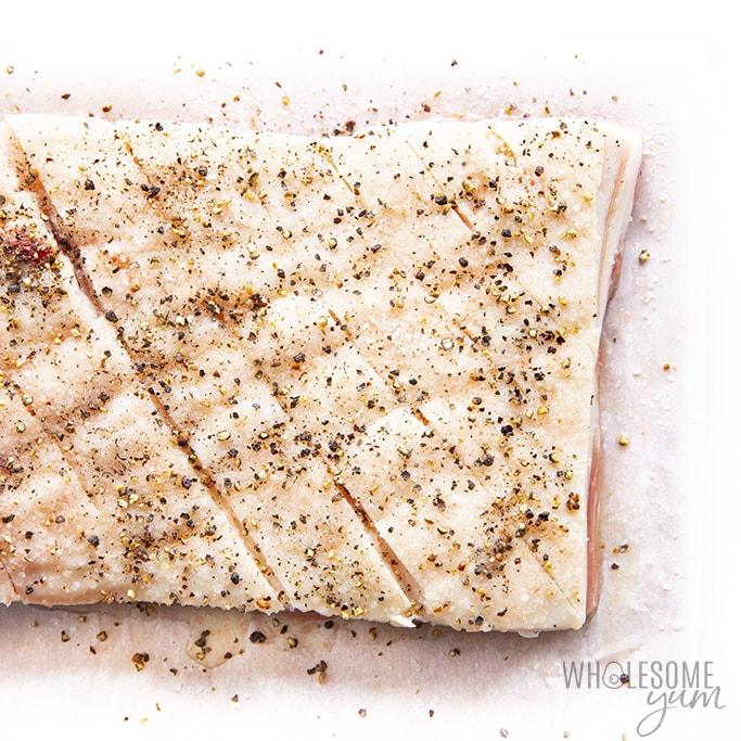How to season pork belly