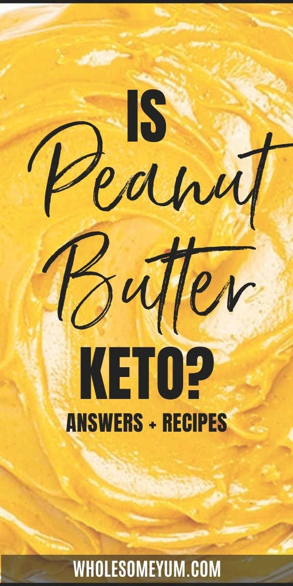 Is peanut butter keto? Are carbs in peanut butter low? Learn how to enjoy peanut butter on keto here, complete with delicious recipes.