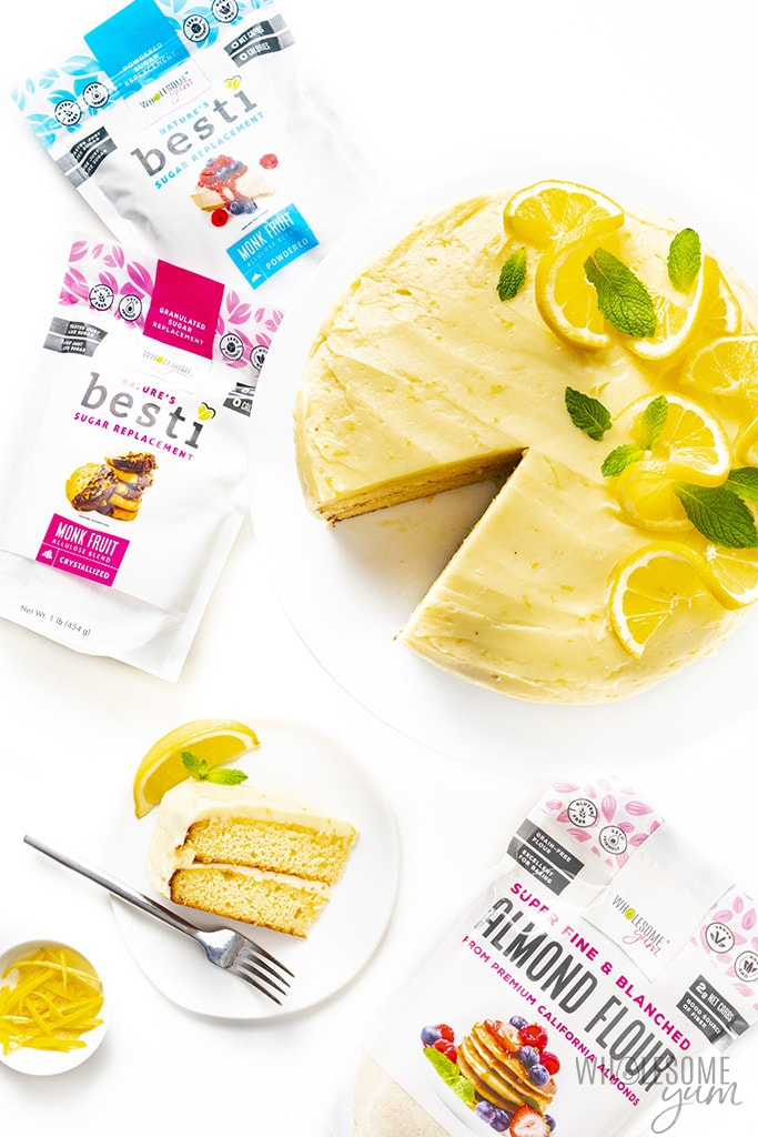 Keto lemon cake with Besti sweeteners