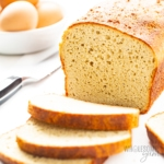 Close up sliced loaf of keto yeast bread