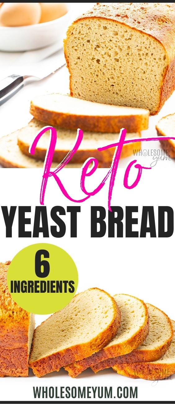Keto yeast bread recipe pin