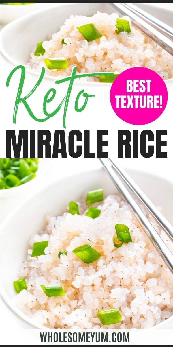 Shirataki rice recipe pin