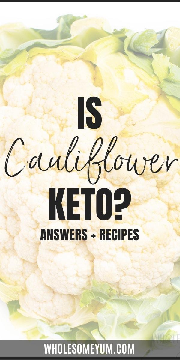 Is cauliflower keto? pin