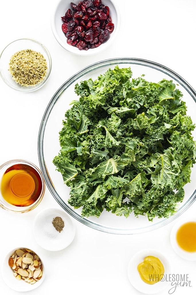 Ingredients for kale salad
