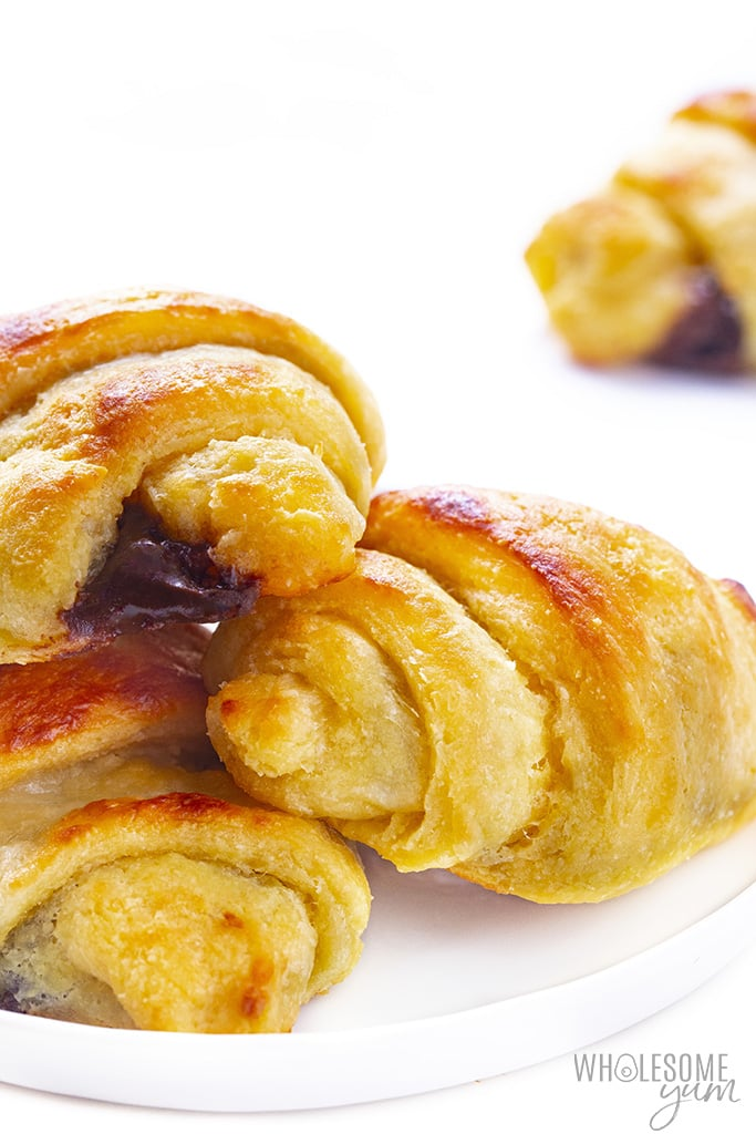 Low carb croissants on a plate