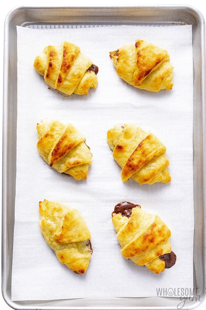 Keto butter croissants after baking