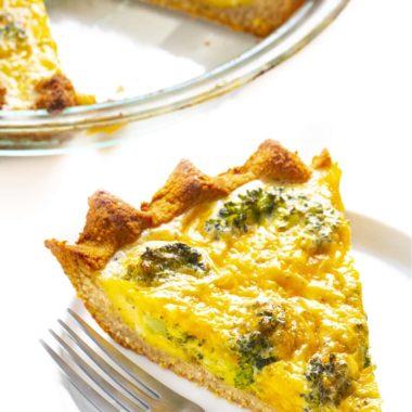 Keto Broccoli Cheddar Quiche Web Story