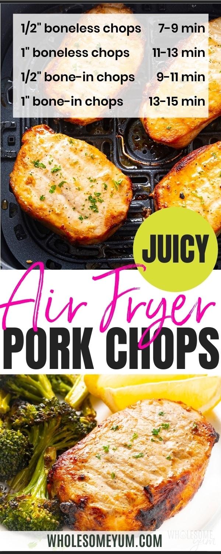 Boneless air fryer pork chop recipe pin