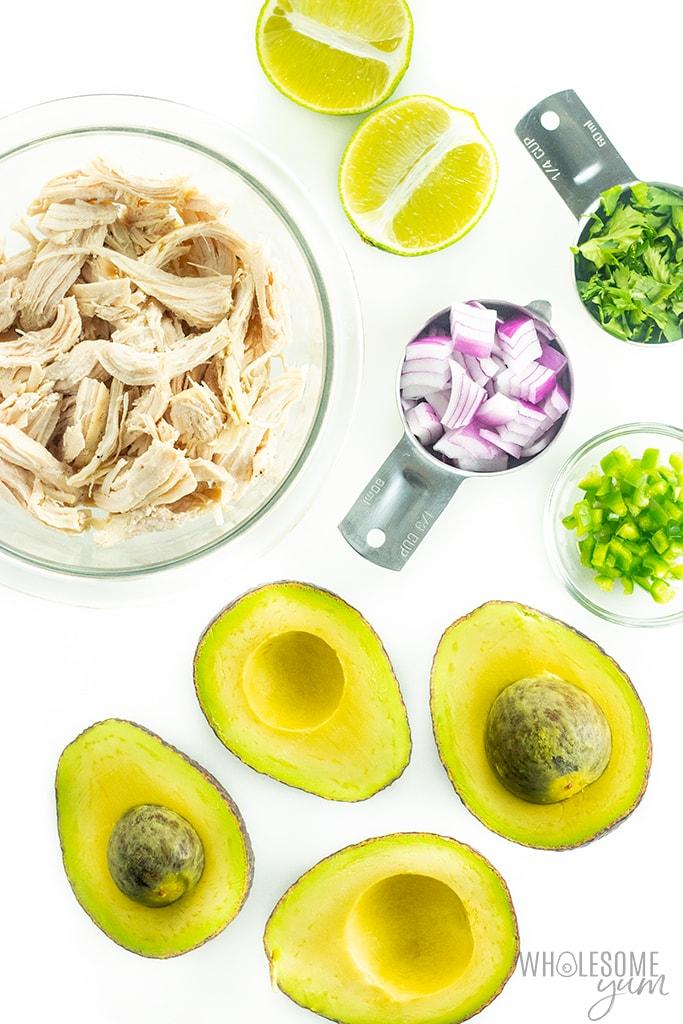 Avocado chicken salad ingredients