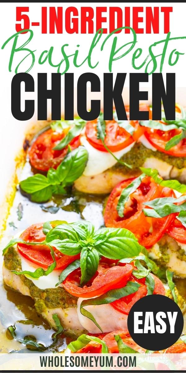 Baked pesto chicken breast recipe pin
