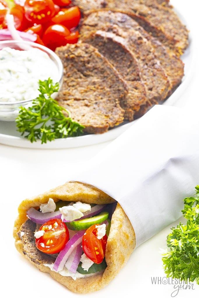 Lamb gyro sandwich
