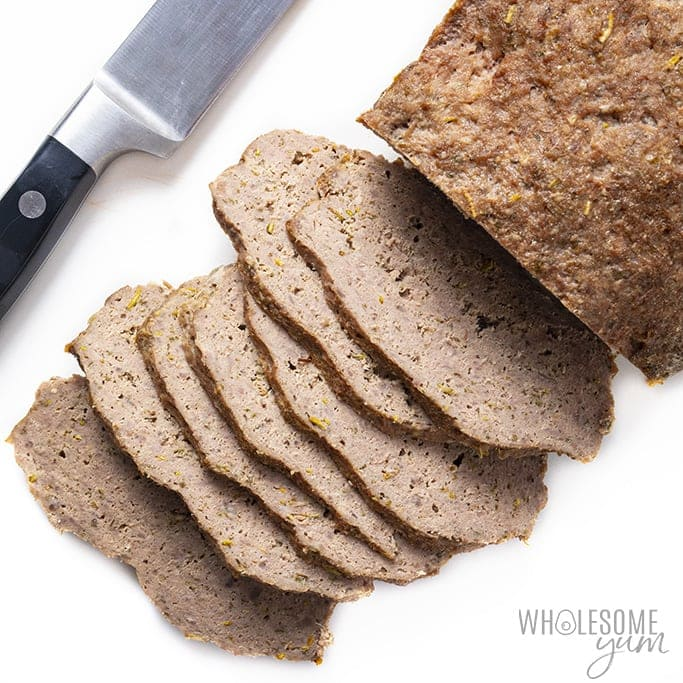 Thinly sliced gyro meatloaf