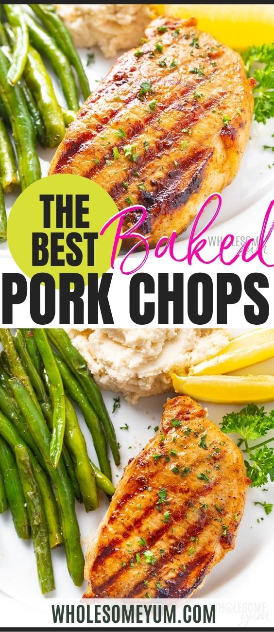 The best baked pork chop recipe pin