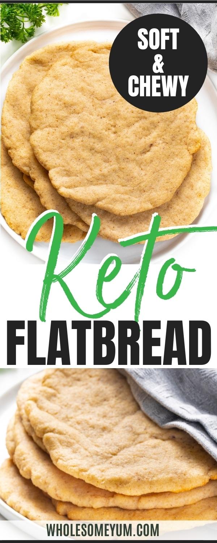 Keto flatbread recipe pin