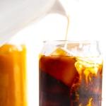 Keto iced coffee recipe close up