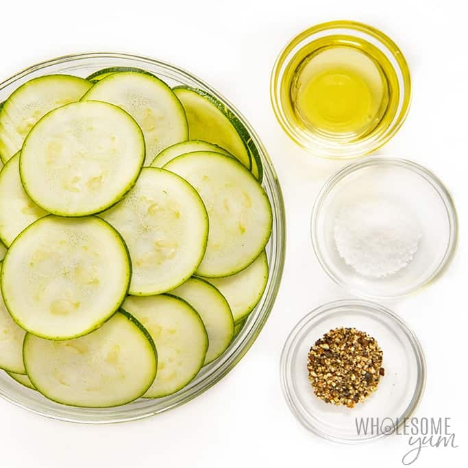 Ingredients to make zucchini chips in air fryer