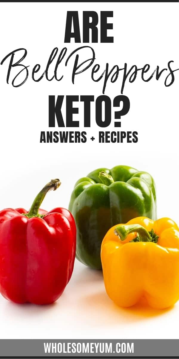 Are bell peppers keto? Just how many carbs in bell peppers anyway? Learn the answers (for lots of different kinds of peppers!), plus keto friendly bell pepper recipes.
